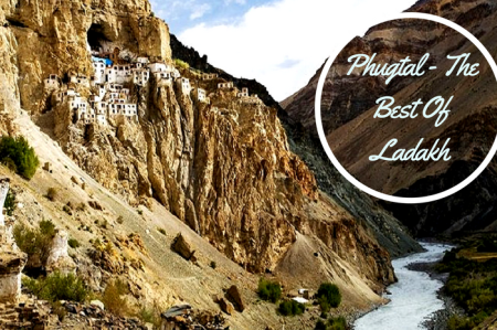 Puhugtal Monastery in Ladakh on a beautiful day