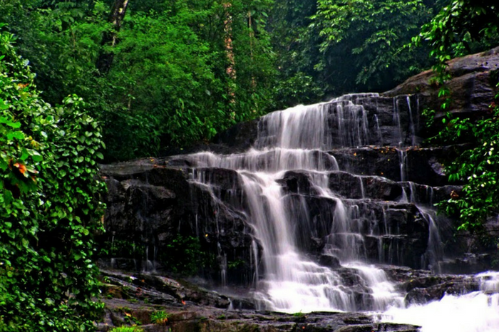 A view of waterfall in Kannavam Forest in Kannur
