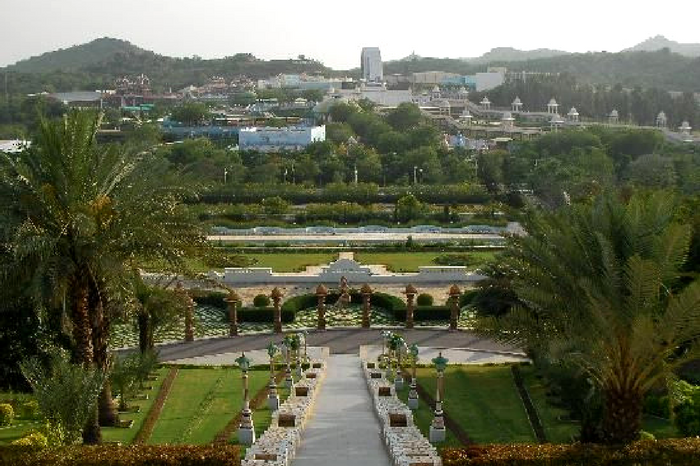A top view of Ramoji Film City in Andhra Pradesh