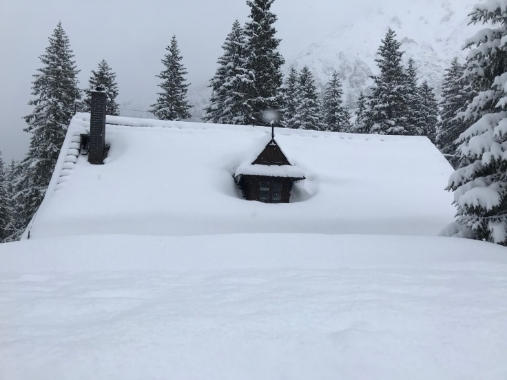cottage all in snow (im suspecting old shelter)