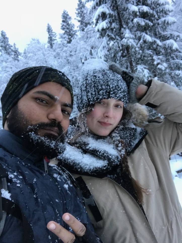 selfie on the way (in snow)