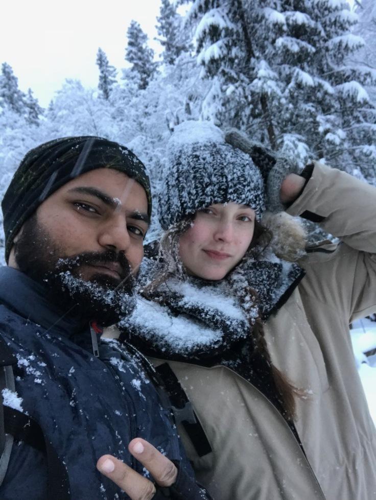 selfie on the way (in snow)