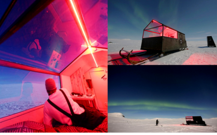Sled hotel in Finland