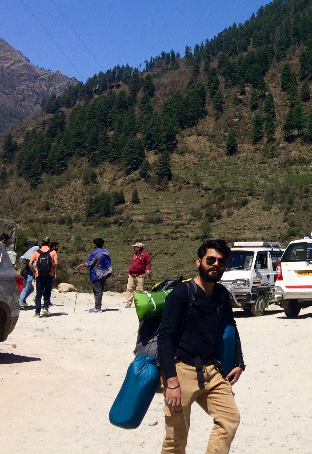 All geared up for the trek