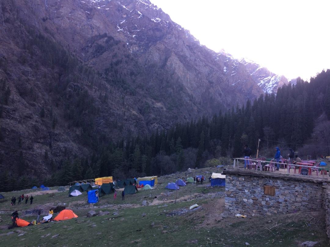 View of Kheerganga Campsite