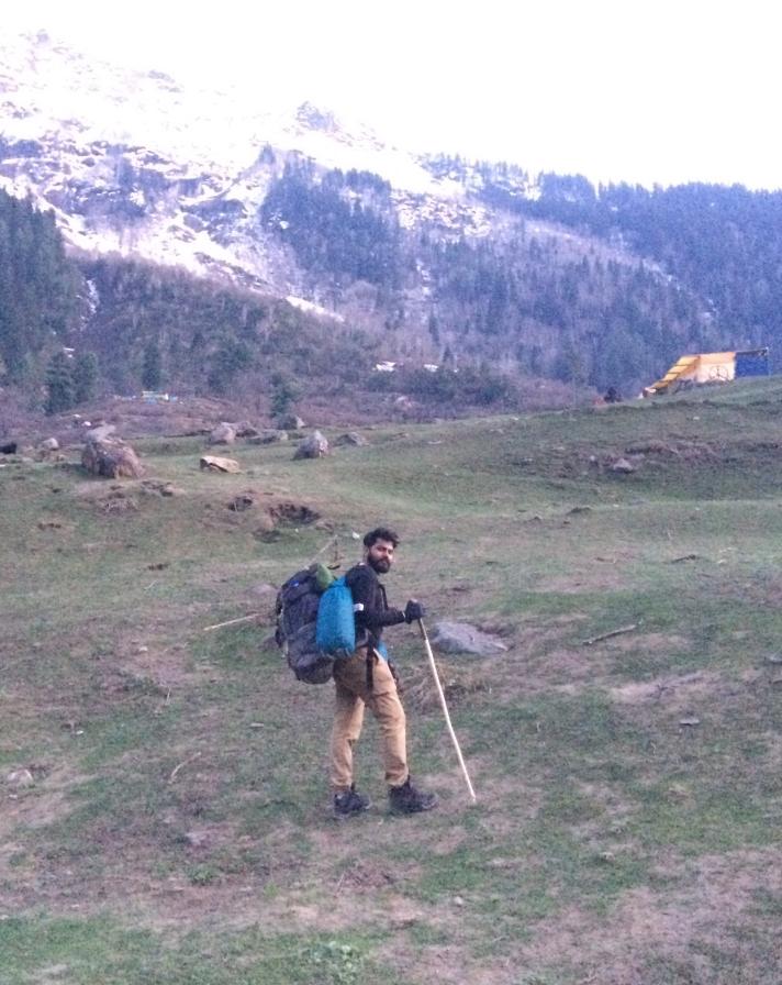 Soon after I reached Kherganga campsite