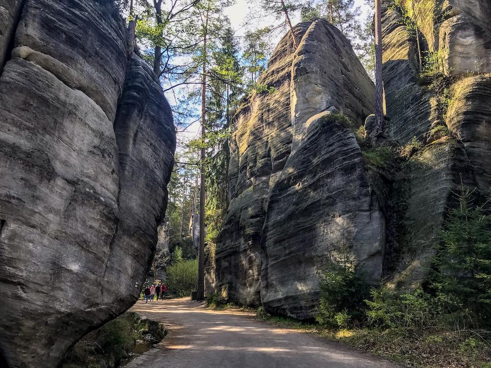 Adrspach nature park landscape