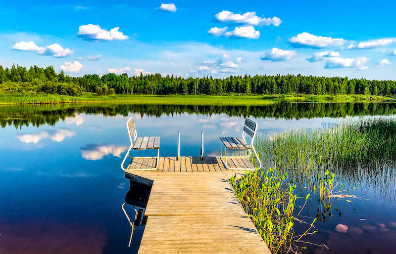 A lakefront in Rovaniemi in