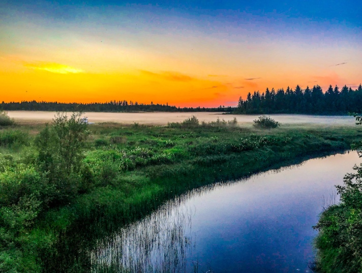 A beautiful sunset in Rovaniemi in summer