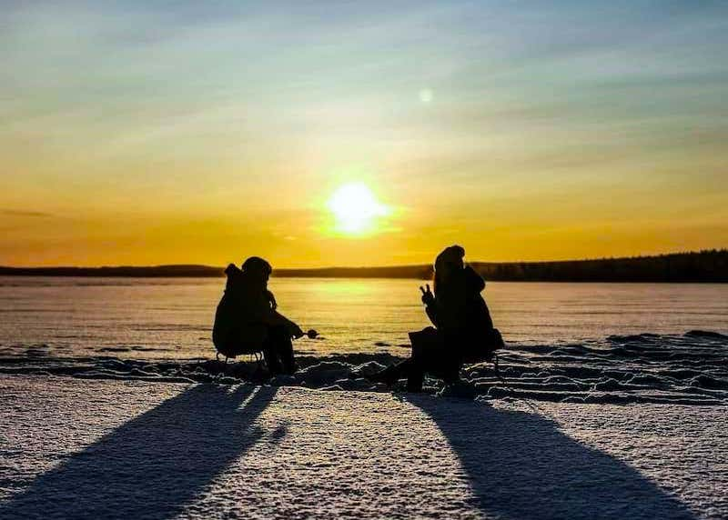 Ice fishing in Rovaniemi