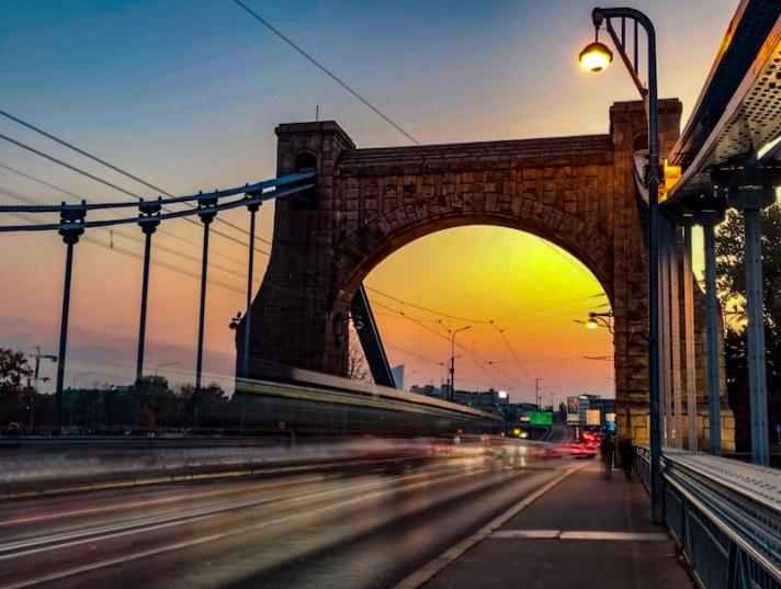 Most Grunwaldzki bridge in Wroclaw