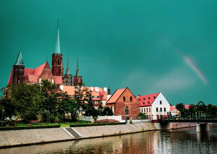 A view of Ostrow Tumski in Wroclaw