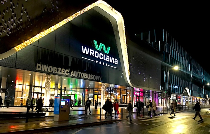 Wroclavia mall in Wroclaw Poland