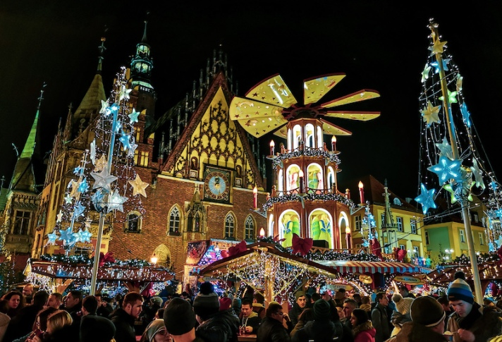 Rynek square during Christmas