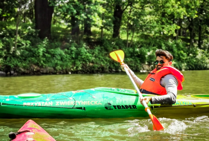 Kayaking in Stara Odra in Wroclaw Poland