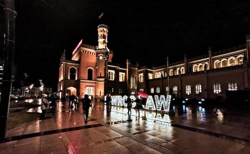 Main railway station Wroclaw