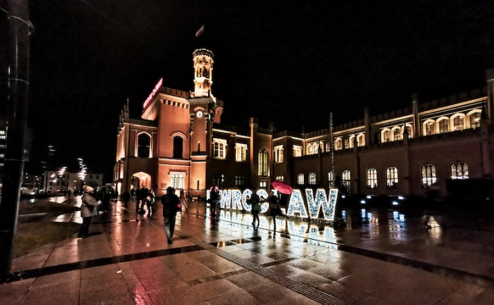 Main railway station Wroclaw