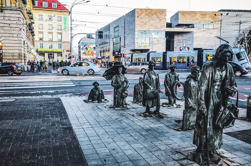 Statues at Arkady Square