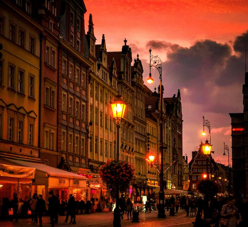 Rynek at sunset