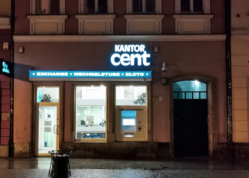 Kantor cent in Wroclaw