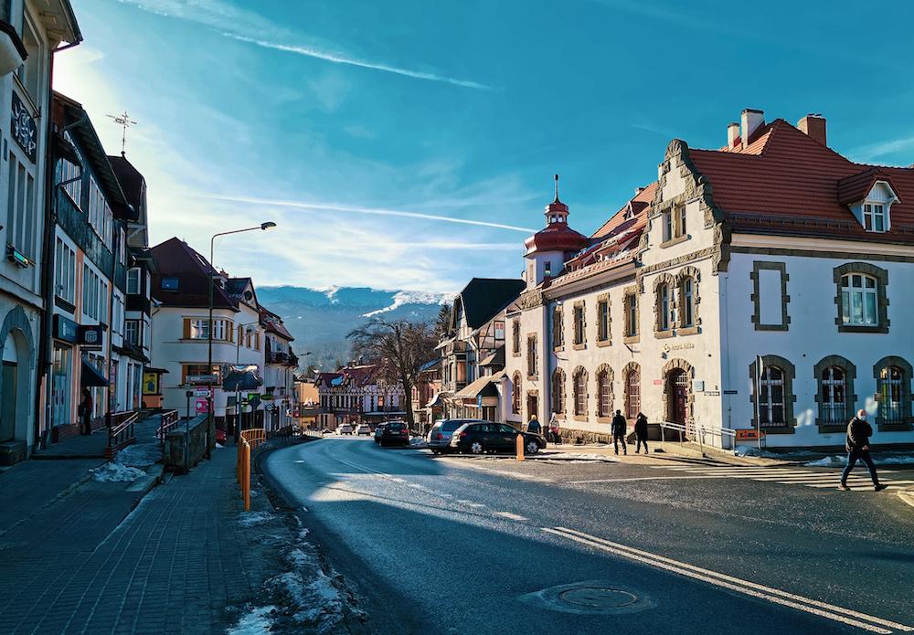 Szklarska Poręba town in Lower Silesia