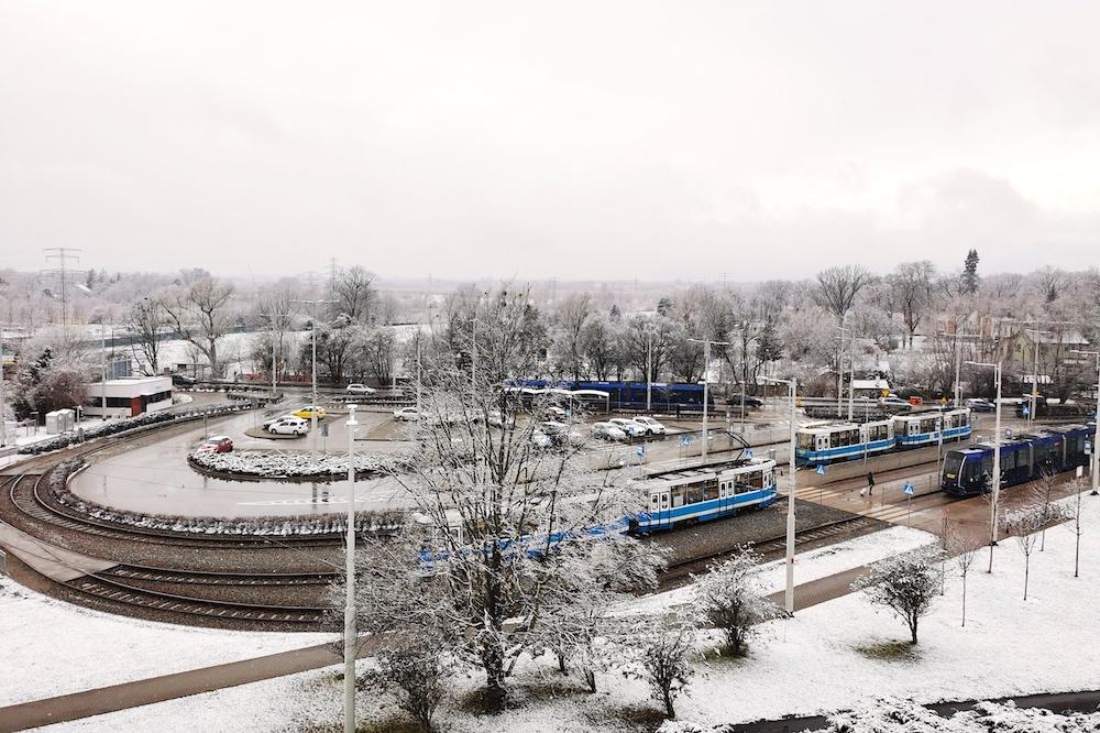 Oporow in Wroclaw in winter