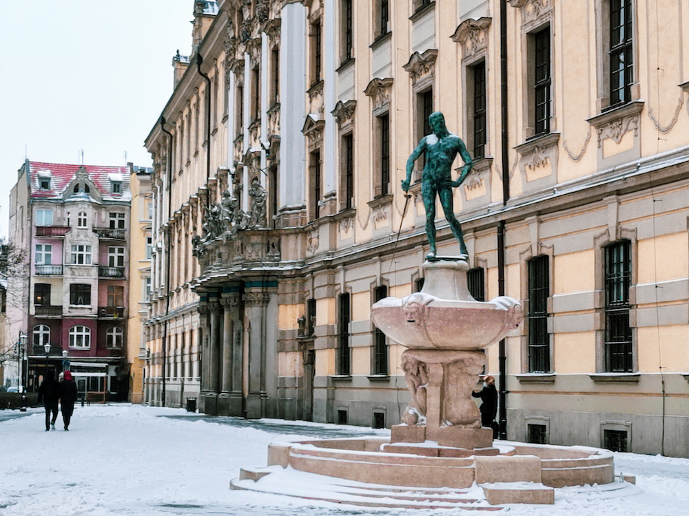 University of Wroclaw in winter