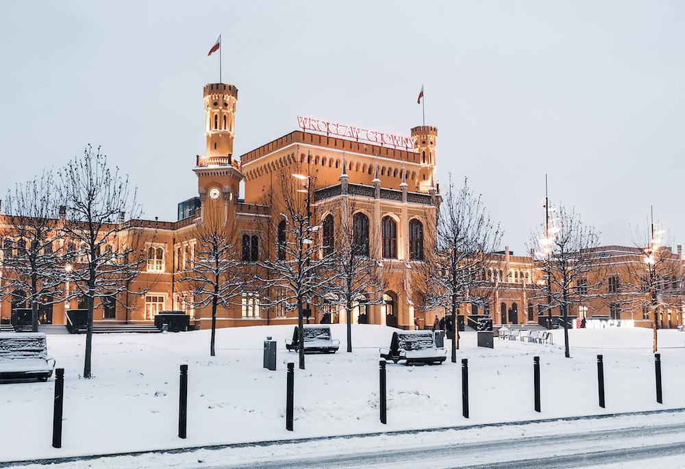 Wroclaw Glowny in winter