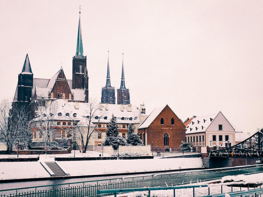 Tumski in Wroclaw in winter